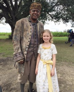 Forrest Whitaker and Lola Fyke on  the set of ROOTS