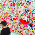 "The Critter particularly liked Takashi Murakami's ""Hustle'n'Punch"" By Kaikai And Kiki, 2009 at The Broad"