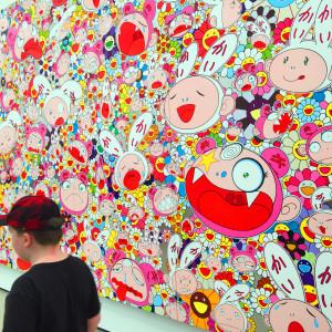 "The Critter particularly liked Takashi Murakami's ""Hustle'n'Punch"" By Kaikai And Kiki, 2009 at The Broad"