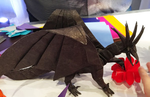 Origami dragon at the KUBO premiere after party
