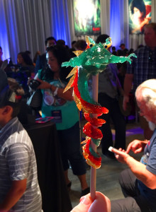 The most artistic lollipop I've ever seen in my life - The Critter chose a dragon, I chose a Crane - at the KUBO premiere after party