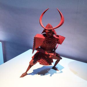 model of the Samurai at the Magic of Laika exhibit at Universal Studios - We attended the premiere, then this incredible exhibit of models and artifacts from Laika Studios, the masters of the stop motion genre