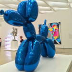 "One of my favorite pieces of Jeff Koons: ""Balloon Dog (Blue)"" at The Broad"