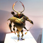 model of Beetle (voiced by Matthew McConaughey) from KUBO at the Magic of Laika exhibit at Universal Studios - We attended the premiere, then this incredible exhibit of models and artifacts from Laika Studios, the masters of the stop motion genre