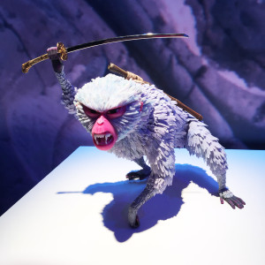 model of Monkey (voiced by Charlize Theron) from KUBO at the Magic of Laika exhibit at Universal Studios - We attended the premiere, then this incredible exhibit of models and artifacts from Laika Studios, the masters of the stop motion genre