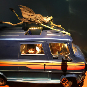 model of the family van from PARANORMAN at the Magic of Laika exhibit at Universal Studios - We attended the premiere of KUBO, then this incredible exhibit of models and artifacts from Laika Studios, the masters of the stop motion genre