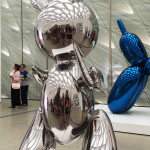"""Rabbit"" by Jeff Koons, a 41"" stainless steel bunny at The Broad"
