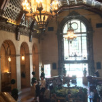 The lobby of The Biltmore in DTLA - we loitered there a bit for respite from the heat!